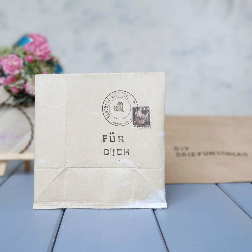 Briefumschlag basteln aus Milchtüten