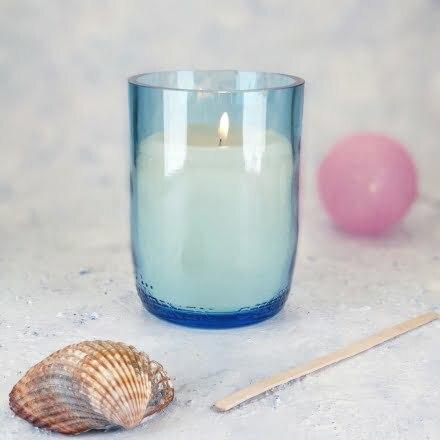 Kerze selber machen Holzdocht