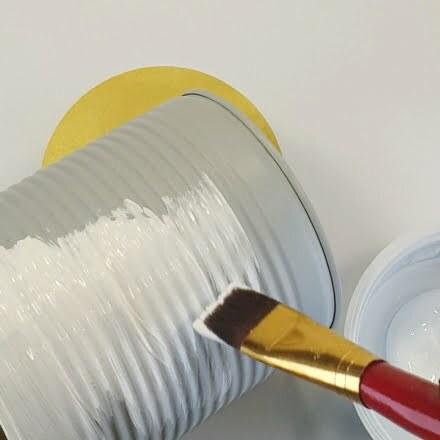 Sommerdeko basteln aus Blechdosen