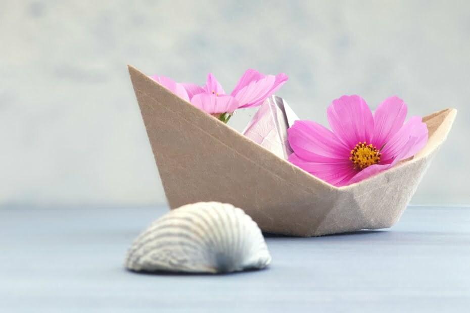 DIY Deko Milchtüten Boot