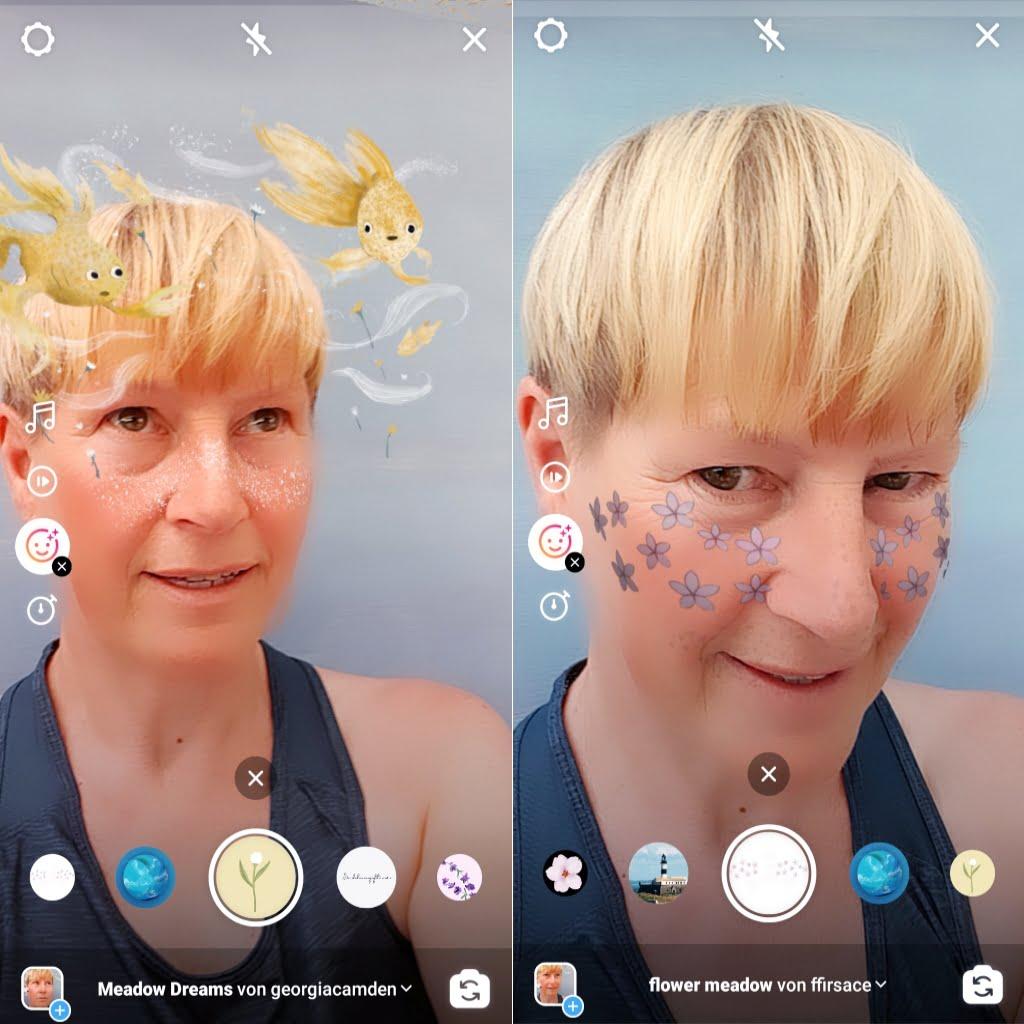 Instagram Reels Effekte mit Gesichtern